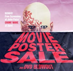 Movie Poster Sale & DVD Blowout + free screening of CRIME WAVE!